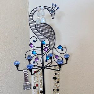 Peacock Jewelry Stand